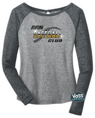 ABC Glitter Design - District Ladies Long Sleeve