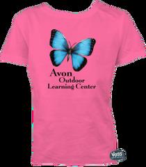 Avon OLC 3D Blue Morpho Butterfly Tee