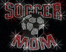 Soccer Mom Large Ball Rhinestone Tee, Tank, Long Sleeve, Hoodie
