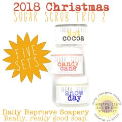 2018 Christmas Trio Mini Sugar Scrubs II (Five Sets)