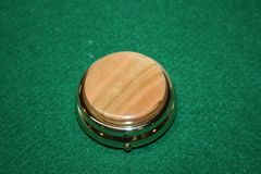 Handcrafted Wooden Mini Pill/Secret Box - Beautiful Cherry Cap in a 24 ct Gold Plated Finished Mini Pill or Secret Box