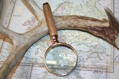 Handcrafted 2 inch Petite Magnifying Glass in a Fine Camphor - Beautifully Crafted