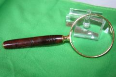 Handcrafted 2 1/2 inch Deluxe Magnifying Glass in a Two Tone Spalted Cocobolo Hardwood - Beautifully Crafted