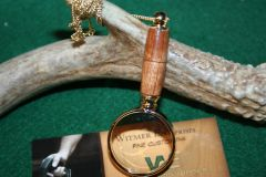 Handcrafted Split Guava Myrtle Mini Magnifying Glass Pendant in a Beautiful 24 ct Gold Finish