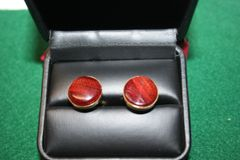 Handcrafted Bloodwood Hardwood 24 ct Gold Plated Cuff Links