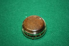 Handcrafted Wooden Mini Pill or Secret Box - Desert Ironwood Cap on a 24ct Gold Finished Pill Box/Secret Box