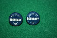 Handcrafted Cuff Links - Boundary Ale Beer Cap with 24 ct Gold Plated Posts