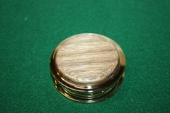 Handcrafted Walnut Magnifying Glass Paperweight in a Beautiful 24 ct Gold Finish
