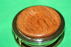 Handcrafted South American Jatoba Magnifying Glass Paperweight in a Beautiful 24 ct Gold Finish