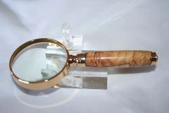 Handcrafted 2 inch Petite Magnifying Glass in a Beautiful Spalted Pecan
