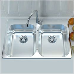 Cantrio Koncepts Double Bowl Stainless Steel Kitchen Sink Drop In