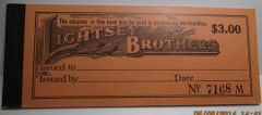 1932 $3 coupon book, 5 denominations, Lightsey Bros, Miley, SC