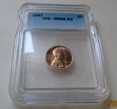 1947 ICG MS65 Red Lincoln Cent