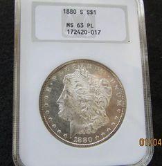 1880S Morgan Dollar, NGC63 ProofLike