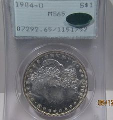 1904-O Morgan Dollar PCGS MS65 CAC...gorgeous coin SOLD