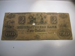 1840 $2 Manufacturers Bank, Providence, R7 rare