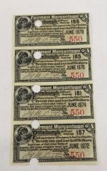 1893 Fairmont, Morgantown and Pittsburgh Railroad Company $22.50 Interest Payable in Gold