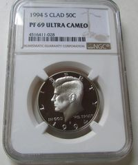1994S Clad Kennedy 50c NGC PF69 Ultra Cameo see all 4 pics