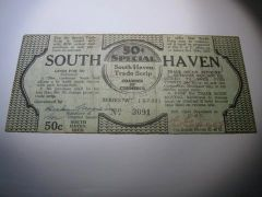 1933 50c South Haven w. merch stamps