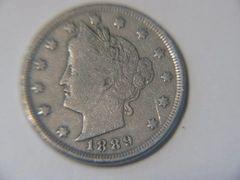 1889 Liberty Nickel, F details
