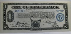 1933, Jul1 1, Series B, $1 City of Hamtramck