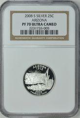 2008-S Arizona 25c NGC PF70 Ultra Cameo