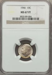 1946 10c nice MS67 FullBands