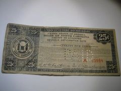 1933 25c Guilford Co. Tax Anticipation Note