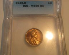 1942-D 1c ICG-MS66 RD see all 4 ;pictures