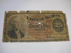 1863 25c Fr1301 AG