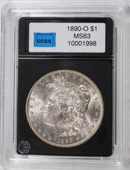 1890-O Morgan $1 CCGS MS63