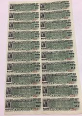 1902 Mohawk and Malone Railway $17.50 Bond Interest Coupons, Payable in Gold