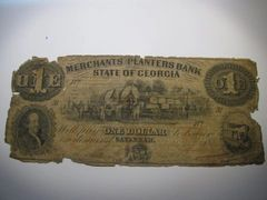 1859 $1 Merchants & Planters Bank, Savannah