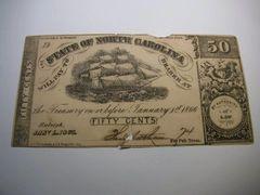 1863 50c State of North Carolina