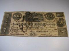 1838 $100 Baltimore & Susquehanna Railroad