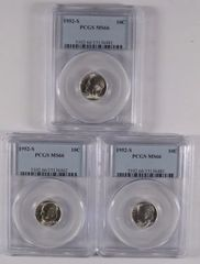 1952S 10c PCGS66 Absolute Gems