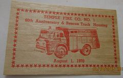 1970 Temple Fire Co. # 1 - 60th Anniversary & Rescue Trust Housing