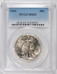 1943 Gem Walker PCGS 65