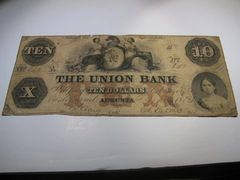 1864 $10 Union Bank of Augusta