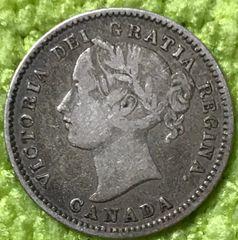 Canada 1874 Victoria Dime...solid grade