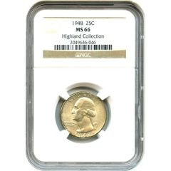 1948 Washington 25c NGC MS66