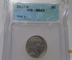 1913D T2 Buffalo 5c ICG-MS63
