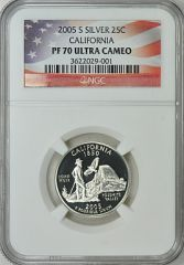 2005-S California 25c NGC PF70 Ultra Cameo Ultimate Quality