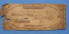 1845 $3 Marblehead Bank VG details-v.Scarce