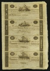 1810-20 $20,$20,$50,$100 Farmers and Merchants, Baltimore