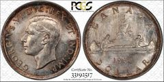 1938 Canada $ PCGS62 toning