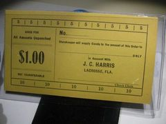 1933 $1 JC Harris Lacrosse, FL