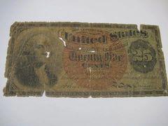 1860s 25c Fr1301 AG