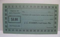 1933 $8 JC Harris LaCrosse, FL