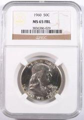 1960 Franklin 50c MS65 FBL pretty coin